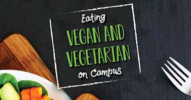 Panther Dining Vegan and Vegetarian brochure cover