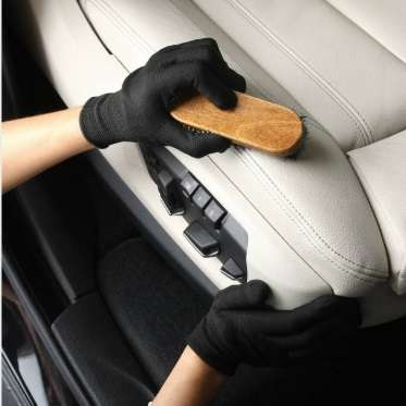 wiping leather car seat
