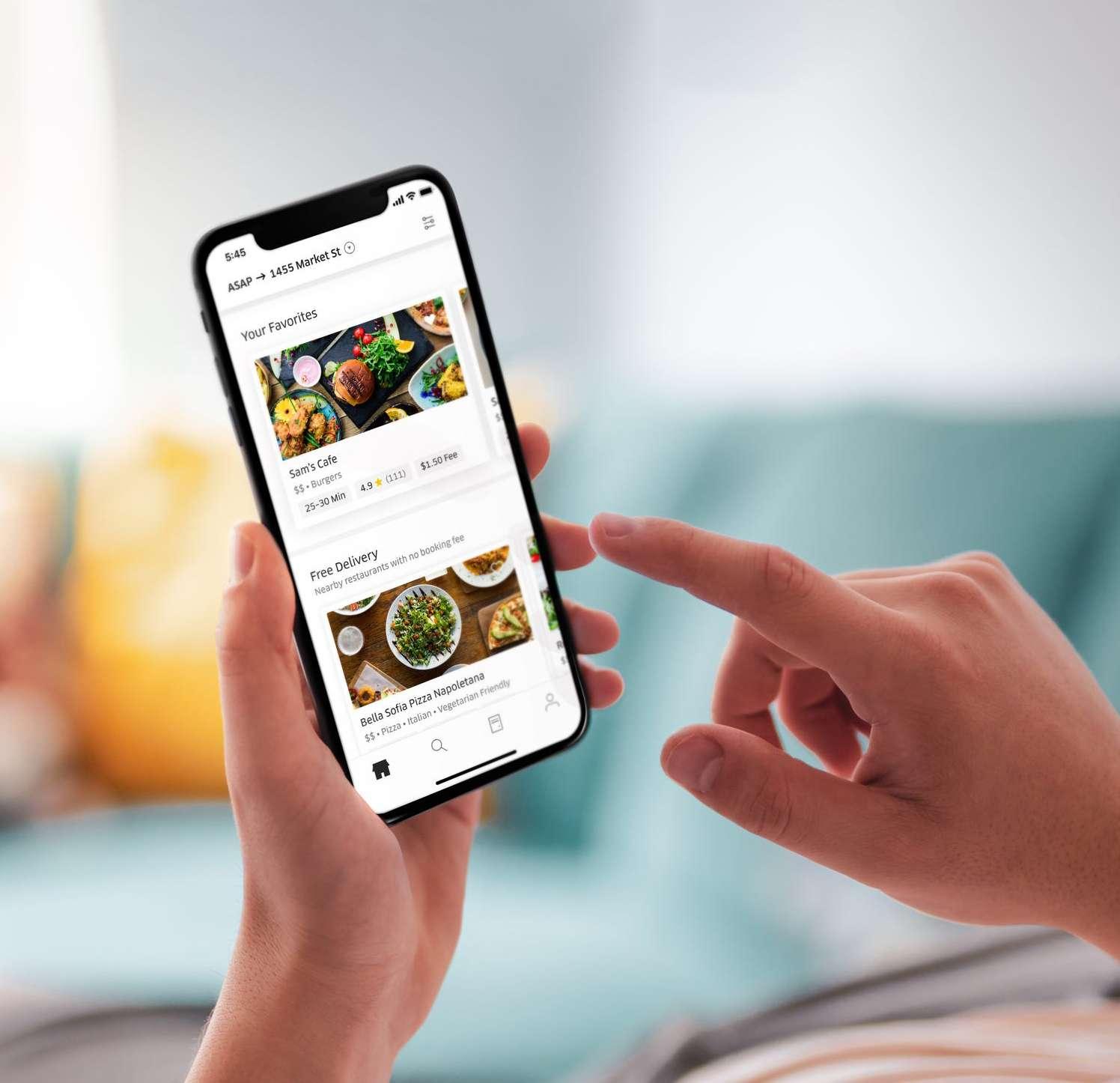 Screenshot of Tapingo app on mobile